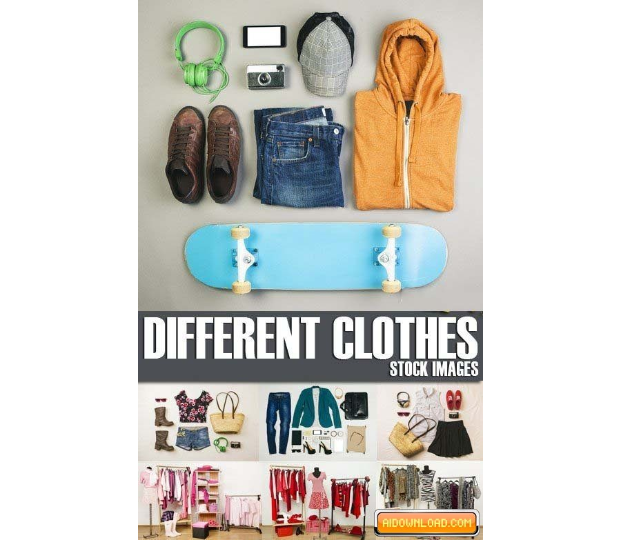 Stock Photos – Different clothes, 25xJPG Free Download